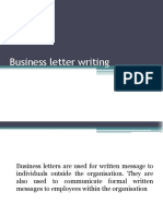 6 Business Letter Writing