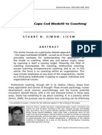 Applying the Cape Cod Model to Coaching