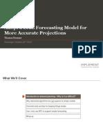 Lean Forecasting Model