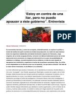 Sinpermiso-Venezuela Estoy en Contra de Una Invasion Militar Pero No Puedo Aplaudir a Este Gobierno. Entrevista-2019!02!03
