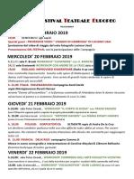 Programma XIV FESTIVAL TEATRALE EUROPEO