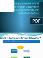 Understanding Consumer Buying Behaviour Through Observation