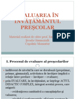 Evaluarea in Invatamantul Prescolar (1)