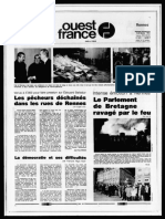 Une Ouest-France Incendie du Parlement