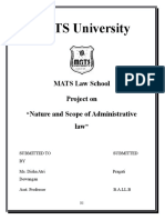 306689708 Nature and Scope of Administrative Lawby Pragati Administrative Law