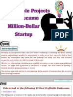 15 Profitable Projects that Became Million-Dollar Startup