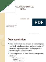 Analog and Digital Data