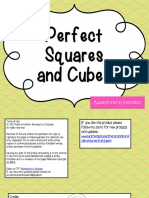 Perfect Squares and Cubes  Class 6