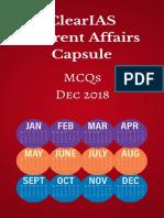 Clearias Current Affairs Capsule Dec 2018
