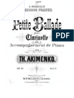 Akimenko Petite Ballade  pno