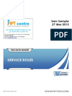 Customer Service Development Report