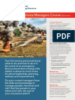 Airport Fire Service Manager Course