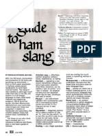 A Guide to Ham Slang