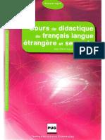 Cours de Didactique Du Français Langue Étrangère Et Seconde (J.-p. Cuq Et I. Gruca, 2008)