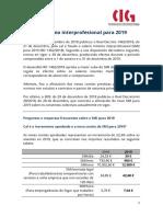 Salario Mínimo Interprofesional Para 2019