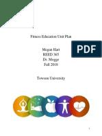 fitness education unit plan--megan hart