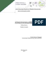 As Relações Internacionais e a UNIFESP- A Construção de Uma Identidade Múltipla