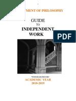 Guía para el trabajo independiente Universida de Princeton 2018-2019