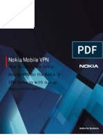 How to Configure Nokia Mobile VPN for Nokia IP VPN Gateway CR
