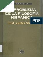 Problema Filosofia Hispanica-Eduardo Nicol