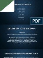Decreto 1072 de 2015 Los Bendecidos 1