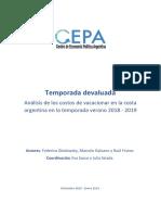 Análisis de Los Costos de Vacacionar en La Costa Argentina
