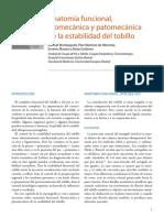 Anatomía funcional, biomecánica y patomecánica de la estabilidad del tobillo.pdf