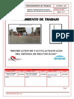 Procedimiento Reubicacion de Valvulas Manuales Del Sistema de Diluvio Ilo41