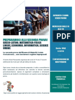 Brochure Seconda Prova