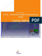 Designing an injection-molded part in catia.
