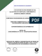 Edital Corsan Manutenção de Redes Esgoto