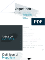 Nepotism Powerpoint