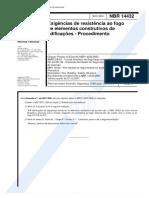NBR 14432 - 2001 - Exigências de Resistência Ao Fogo de Elementos Construtivos de Edificações