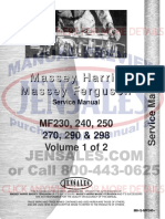 Massey Ferguson Tractor Service Manual Mh s Mf240