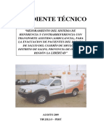 Ambulancia  adquisicion expediente