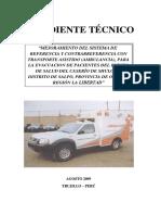 Ambulancia  adquisicion expediente