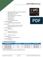EMMC MA110 Series Datasheet