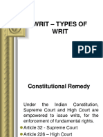 Types of Writs