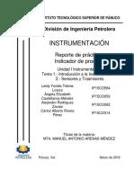 Práctica 1 Indicador de Proceso Instrumentación Marzo-2018 p601 Tobías Castellanos Rodriguez Rivera