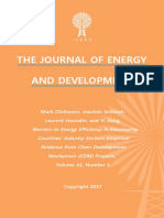 """Barriers to Energy Efficiency in Developing Countries' Industry Sectors"