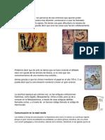 Comunicacion en La Edad Antigua, Edad Media y Edad Moderna