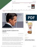 Peña Nieto aún puede ser juzgado por el caso Odebrecht - Proceso
