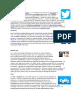 Twitter, Facebook, Metroflog, Blog, Ask, Tuenti