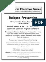 Flier Relapse Prevention