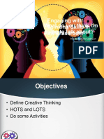 Engaging with thinking skills in the classroom
