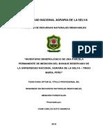 INVENTARIO DENDROLÓGICO DE UNA PARCELA PERMANENTE DE MEDICIÓN DEL BOSQUE RESERVADO DE LA UNIVERSIDAD NACIONAL AGRARIA DE LA SELVA – TINGO MARÍA, PERÚ