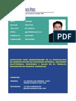 Currículum Administración Seguridad