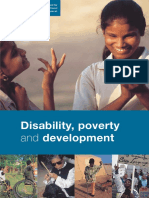 Disability Poverty and Development