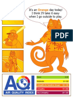 Orange AQI indicator