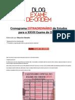 Blog Exame da Ordem - Cronograma de Estudo
